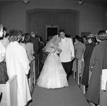 """Image of California Wedding, 1954 2 - """"This wedding scene was submitted to Ed. Steichen's 'Family of Man' - not accepted - 1954"""""""