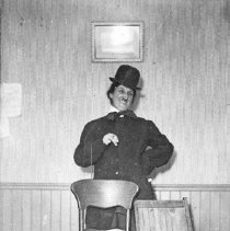 Image of Oregon, Skit - A woman appears to be doing a skit where she is dressed up to look like Charlie Chan.