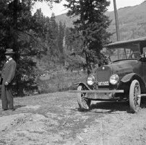 "Image of Automobile, Fred Huffman 1 - ""Fred Huffman - Dodge Car - 1921 license