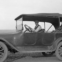 "Image of Automobile, Fred Huffman 2 - ""Fred Huffman - Dodge Touring Car - 1921? (1925+/-)"""