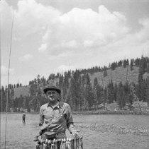 """Image of Wallowa Lake, Fishing Catch - """"At Wallowa Lake - 1910"""""""