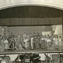 """Image of 1934 """"Pied Piper of Hamelin"""" - """"1934+/-  A Dramatic Presentation - 'Pied Piper of Hamelin' - presented winter quarter by Sock and Buskin, the Music Dept. and the Training School.  It was an opera."""""""