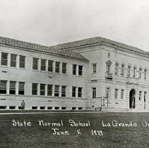 "Image of 1929 Inlow Hall 1 - ""8.  State Normal School - La Grande, Ore. - June 5, 1929"" - Inlow Hall"