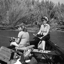 "Image of California Fishing, Hill 3 - ""Vivian & Martha Hill fishing for catfish - rented boat - 'Old River"""
