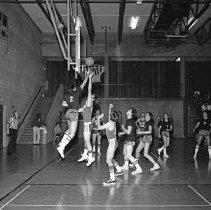 """Image of California, Basketball Game 1 - """"Basketball game - Mormon Stake recreational facilities - Oakland, Calif. - Mar. 1974 - Don Satelo:  Fred's daughter Jean dated Don Satelo a few times.  The basketball 'suits' of this era might be of interest"""""""