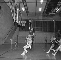 """Image of California, Basketball Game 2 - """"Basketball game - Mormon Stake recreational facilities - Oakland, Calif. - Mar. 1974 - Don Satelo:  Fred's daughter Jean dated Don Satelo a few times.  The basketball 'suits' of this era might be of interest"""""""