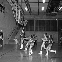 """Image of California, Basketball Game 3 - """"Basketball game - Mormon Stake recreational facilities - Oakland, Calif. - Mar. 1974 - Don Satelo:  Fred's daughter Jean dated Don Satelo a few times.  The basketball 'suits' of this era might be of interest"""""""