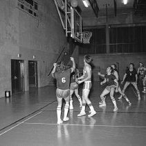 """Image of California, Basketball Game 5 - """"Basketball game - Mormon Stake recreational facilities - Oakland, Calif. - Mar. 1974 - Don Satelo:  Fred's daughter Jean dated Don Satelo a few times.  The basketball 'suits' of this era might be of interest"""""""