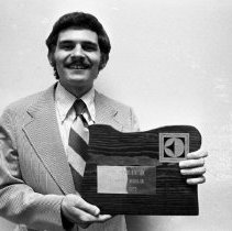 "Image of 1976 Distinguished, John Jambura, Jr. - ""Spring 1976 - Awards Banquet - John Jambura, Jr."" - four images"