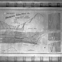 "Image of Baker, Knapp Group Map - ""Baker [County] area mines - Highland Gold Mine Co. - Knapp Group - Sumpter, Or. Maps - circa 1901-1903""  ""Property of the Highland Gold Mines Co.- Knapp Group - Sumpter, Oregon - Granite, Grano-Diorite, Argillite - U.S. Deputy Mineral Surveyors"""