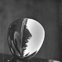 Image of Automobile Headlight - One of the headlights of a 1930's era automobile.