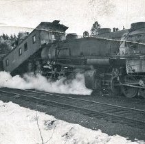 Image of Train Wreck, Collision - Aftermath of the collision between Union Pacific Engine #3531 and Caboose #3567.