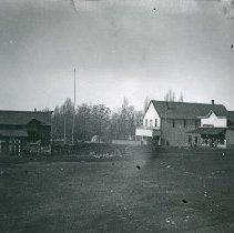 """Image of Cove, Street Scene 1 - """"Cove, Oregon street scene - circa 1900""""  Cove Hotel in picture."""