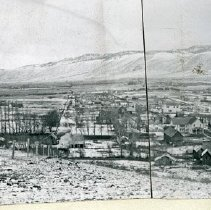 "Image of Cove, Panorama 2 - ""Panoramic overview of snow-dusted Cove, Oregon - circa 1910""