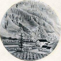 """Image of Art, Oro Dell - """"2.  Photograph of a drawing of Oro Dell, Oregon - circa 1888"""""""