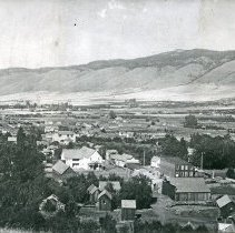 "Image of Cove, Hilltop View 3 - ""Cove, Oregon - circa 1910""  The Cove Hotel can be seen in the direct center of the image.
