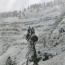 "Image of Eden, Monumental Rock - ""Monumental Rock, Upper Horse Range, Garden of Eden, Wallowa County, Oregon - circa 1910."""