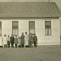 "Image of Baker County School, Pocahontas 1 - ""Pocahontas School, Baker County, Oregon - circa 1912"""