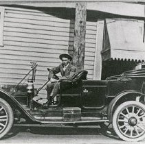 "Image of Automobile, Touring Car - ""A proud owner shows off his touring car - Milton, Oregon."""