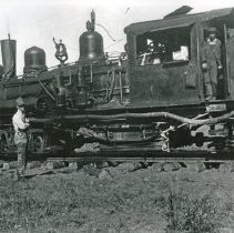 "Image of Train Engine, Shay Locomotive 3 - ""Bowman-Hicks Lumber Co. #2 Shay - Maxville, Oregon - 1924"""