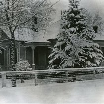 """Image of Enterprise Home, Burleigh - """"J.A. Burleigh home in the wintertime - Enterprise, Oregon (Wallowa County).  [Probably refering to the time it was built:] circa 1895."""""""