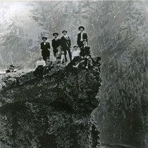 "Image of Eden, Peephole Bluff - ""Peephole Bluff, Upper Horse Range, Garden of Eden, Wallowa County, Oregon - circa 1910."""