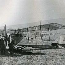 """Image of Enterprise, Bi-Plane - """"War surplus Curtiss JN-4 'Jenny' training plane near Enterprise, Oregon (Wallowa County) - circa 1920."""""""