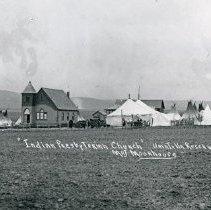 "Image of Umatilla, Presbyterian Church - ""'Indian Presbyterian Church' Umatilla Reservation - Christmas 1903"""