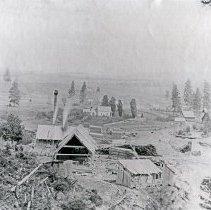 "Image of Elgin, Galloway Mill - ""J.T. Galloway Mill on Gordon Creek, 3 miles north of Elgin, Oregon - June 1897"""