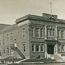 "Image of Elgin, City Hall 1 - ""City Hall in Elgin, Ore. - circa 1913-1914.  Bonds voted 3-13-1911, $10,000."""