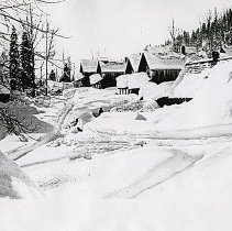 "Image of Cornucopia, Winter 2 - ""2.5.16 L.P. [Probably date and initials for photographer, Lawrence Panther.]  Feb. 5, 1916 - Cornucopia, Ore. in winter."""