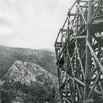 "Image of Cornucopia, Last Chance Mine 2 - ""9.21.14 L.P. [Probably date and initials for photographer, Lawrence Panther.]  From Summit to Mill - Last Chance tramway - Last Chance Mine near Cornucopia, Ore. - Sept. 21, 1914."""