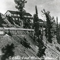 """Image of Cornucopia, Last Chance Mine 4 - """"At the Last Chance Mine - 11.7.14 L.P. [Probably date and initials for photographer, Lawrence Panther.]  Near Cornucopia, Oregon."""""""