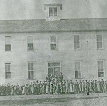 "Image of Elgin School, Public - ""Elgin Public School - The old white school house, Elgin, Ore. - circa 1896."""