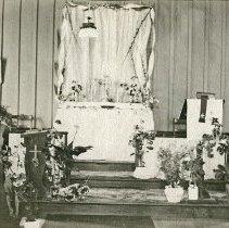 "Image of Union Church Interior, Episcopal - ""Interior of St. Johns Episcopal Church of Union, Oregon."""