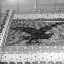 """Image of Cove, Cherry Fair Display 17 - """"Cherry Fair cherry display of eagle in flight - 1914 - Cove, Oregon."""