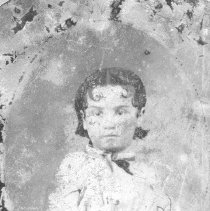 """Image of Portrait - Childers, Jessie - """"Possibly Jessie [or Della] Childers at about four years of age.  Both girls are the daughters of Frank P. and Mary Baker Childers - circa 1880's."""""""