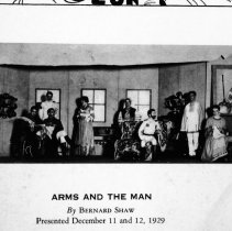 "Image of 1929 ""Arms and the Man"" - ""'Arms and the Man' by Bernard Shaw - Presented December 11 and 12, 1929""