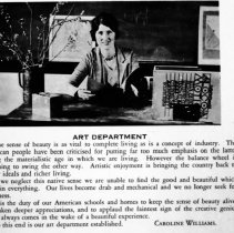 "Image of 1929-30 Employee, Caroline Williams - ""Caroline Williams - ART DEPARTMENT