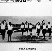 "Image of 1929-30 Folk Dancing - ""Folk Dancing""  [Photo appears in the 1930 EONS Catalog.]"