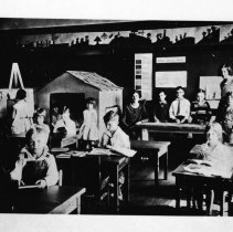 Image of 1929-30 Ackerman Elementary Classroom - Probably one of the very first elementary classrooms at the training school.