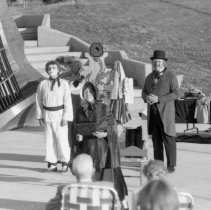 "Image of 1984 Theatre, Chautaqua 1-3 - ""July 1984 - Chautaqua""  Thirteen images: Nine of the Chautaqua perfomance in the outdoor Gronek Amphitheater, and four of the audience.