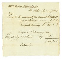 Image of Bill of Account