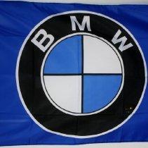 Image of BMW Roundel logo banner, blue