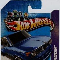 Image of 1:64 scale Hotwheels BMW 2002 blue