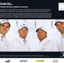 Image of BMW Team RLL 2012 signature card back