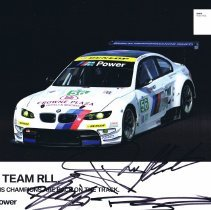 Image of BMW Team RLL 2012 signature card front
