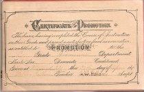Image of Certificate of Promotion for Leona Garner