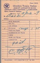 Image of Glendora Texaco Receipt