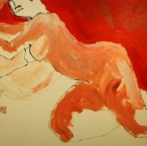 Image of Freeman Butts - Untitled (reclining nude)